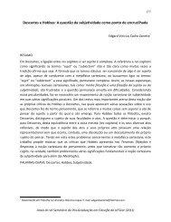 Descartes e Hobbes: A questão da subjetividade como ponto de ...
