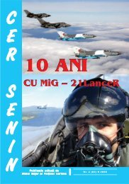 Revista Fortelor Aeriene Romane nr. 6/2005 - Fortele Aeriene ...