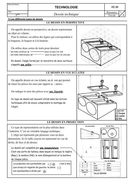 Fe05 Dessin Technique