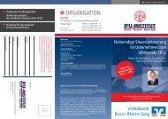 ORGANISATION - Volksbank Bonn Rhein-Sieg