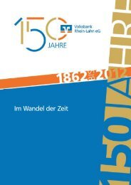 Chronik - 150 Jahre Volksbank Rhein-Lahn eG - 04/2012