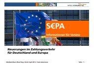 SEPA Informationen für Vereine - Volksbank Bonn Rhein-Sieg