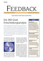 Die 360 Grad Entscheidungsanalyse Feedback lesen