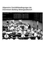AGB der Clearstream Banking AG - Volksbank Worpswede eG
