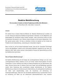 Reaktive Marktforschung - Vocatus AG