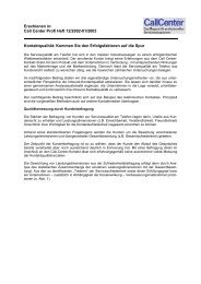 Servicequalität im Call Center - Vocatus AG