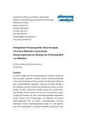 Erfolgsfaktor Prozessqualität: Neue Konzepte ... - Vocatus AG
