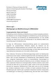 Überlegungen zur Marktforschung im CRM-Zeitalter - Vocatus AG