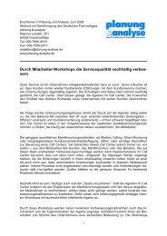 Durch Mitarbeiter-Workshops die Servicequalität ... - IRIS Network