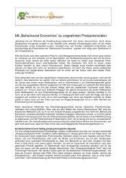 Mit 'Behavioural Economics' zu ungeahnten ... - Vocatus AG