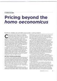 Pricing beyond the homo oeconomicus (2011)
