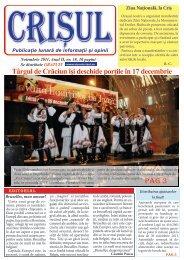 Nr 18 Noiembrie 2011 - Ziarul Crisul