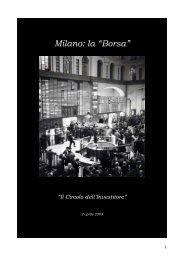 """Milano: la """"Borsa"""" (è sufficiente cliccarne il titolo ... - Nikkaia Strategie"""