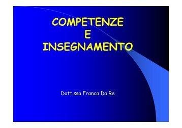 COMPETENZE E INSEGNAMENTO - cti Besta