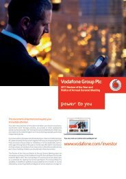 2011 Review of the Year and Notice of Annual General ... - Vodafone