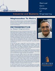 Industrial and Systems Maghsoodloo To Retire - Samuel Ginn ...