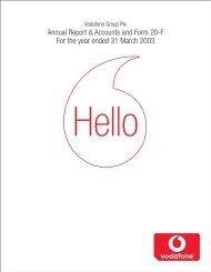 Annual Report ? 31 March 2003 - Vodafone