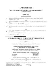 UNITED STATES SECURITIES AND EXCHANGE ... - Vodafone