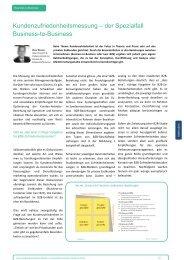 Kundenzufriedenheitsmessung – der Spezialfall ... - Vocatus AG