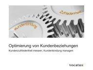 Inhouse Seminar - Kundenzufriedenheit und ... - Vocatus AG