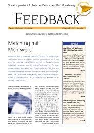 Matching mit Mehrwert Feedback lesen - Vocatus AG
