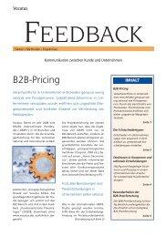 B2B-Pricing Feedback lesen