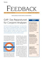 GAP: Das Reparaturset für Conjoint-Analysen Feedback lesen