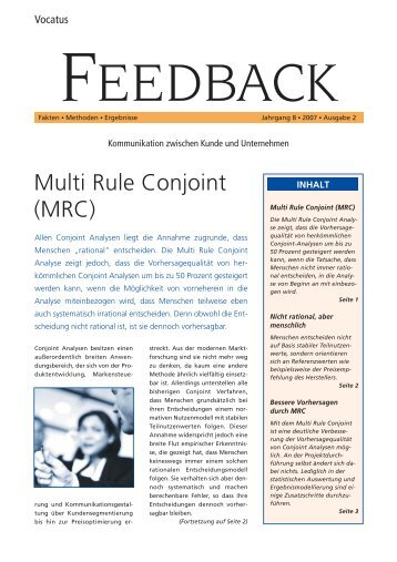 Multi Rule Conjoint (MRC)