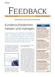 Kundenzufriedenheit messen und managen Feedback lesen