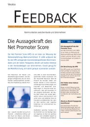 Die Aussagekraft des Net Promoter Score Feedback lesen