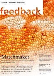 Matchmaker Feedback lesen - Vocatus AG