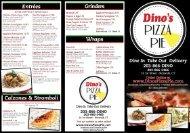 Download Menu PDF - Dino's Pizza Pie