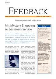 Mit Mystery Shopping zu besserem Service Feedback lesen