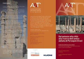 Scarica la locandina - Associazione Archeologica Ticinese