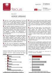 Istat: Verde urbano - Comune di Bologna