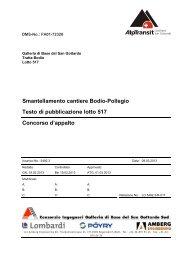 Testo di pubblicazione - AlpTransit Gotthard AG