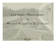 Low Impact Development at Wetland Studies and Solutions, Inc.