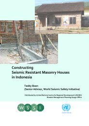 Constructing Seismic Resistant Masonry Houses in Indonesia Teddy