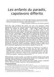 Les enfants du paradis, capolavoro differito - Cineteca di Bologna
