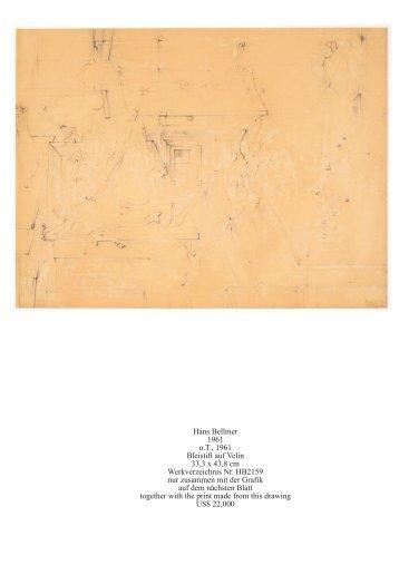 Hans Bellmer 1961 o.T., 1961 Bleistift auf Velin 33,3 x 43,8 cm ...