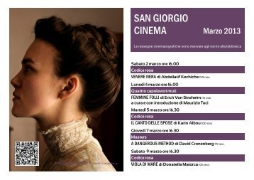 San Giorgio Cinema di marzo - Biblioteca San Giorgio