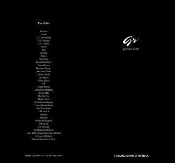 Portfolio - Giancarlo Rovatti
