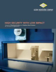 high Security with low imPact - Acorn Engineering