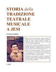 Storia della tradizione teatrale musicale a Jesi - Fondazione Lanari
