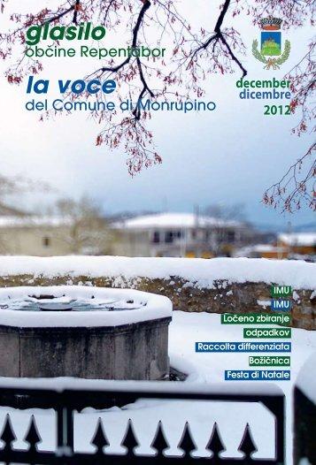 la voce glasilo - Comune di Monrupino