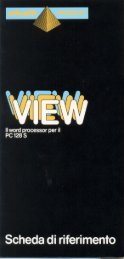 View - scheda di riferimento in italiano