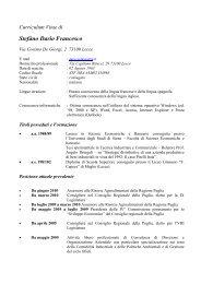 Curriculum Vitae di - Inea