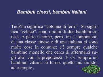 Bambini cinesi, bambini italiani - Sito istituzionale del Primo Circolo ...