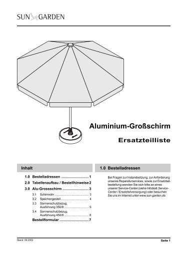 ampelschirm sun garden dehner garten center easy sun parasol 375 8 ampelschirme produkte sun. Black Bedroom Furniture Sets. Home Design Ideas