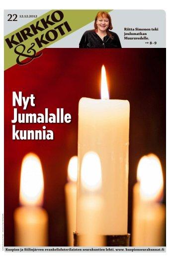 Riitta Simonen teki joulumatkan Muuruvedelle. 8–9 - Kuopion Ev.lut ...